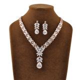 卸し売りジルコン花嫁デザイン方法宝石類のアフリカの金のネックレスの結婚式の宝石類セット