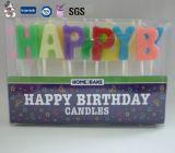 Vela del cumpleaños de la letra del color de la venta al por mayor de la fábrica del OEM
