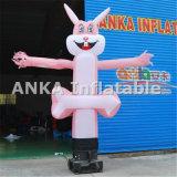 Desenhos animados infláveis da forma do coelho do dançarino do ar