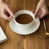 Potenciômetro cerâmico puro do café do jogo de chá da porcelana do potenciômetro de flor do copo de café branco