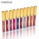 Schittert Kosmetische Lippenstift 10 van Veronni Lippenstift van de Diamant van Kleuren de Waterdichte Lippenstift