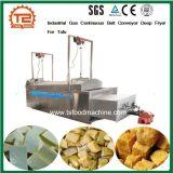 Friteuse profonde continue de convoyeur à bande de gaz industriel pour le tofu