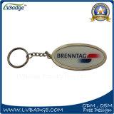 Keyring de encargo vendedor caliente del metal de la insignia