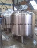 2000L de acero inoxidable de grado alimenticio de camisa de depósito mezclador calefacción a vapor