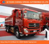 6*4 10 ruedas resistentes 371HP 30 toneladas de carro de volquete