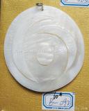 Bricolaje accesorios colgantes Joyas de concha de forma redonda Anillo Pulsera Material