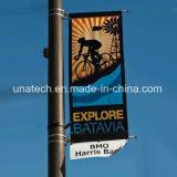 Rue Pôle en métal annonçant le fixateur de drapeau d'étalage (BT82)