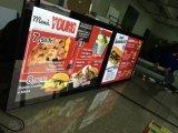 Панель трактира акриловая магнитная рекламируя светлую коробку для доски меню