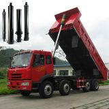 Cilindro ativo do petróleo hidráulico do multi estágio da alta qualidade único para o caminhão de descarga