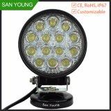 Indicatore luminoso del lavoro dell'automobile LED di alto potere 42W per CC indicatore luminoso movente e di funzionamento del LED della jeep 10-30V