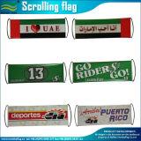 Bandierina tenuta in mano ritrattabile su ordinazione della bandiera di Scrolling (M-NF35P09006)