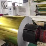 bobina envernizada dourada da régua do aço do Tinplate de 0.18mm para o tampão da lata