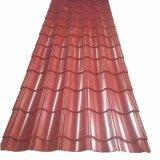 Cor de metal corrugado revestido a folha de cobertura