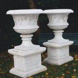 Marble 정원 Planters, Ornament T-5744를 위한 Urns의 Pair