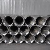 Fio de cunha de aço inoxidável Warpped do tubo do filtro de tela de poços de água