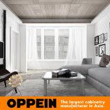 Мебель кухни MDF домашнего лака конструкции самомоднейшего белого деревянная (OP15-HS8)