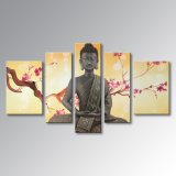 Peinture à l'huile peinte à la main de Bouddha sur toile Décoration abstraite