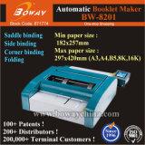 Steek van de Hoek van het Zadel van de Brochure van het Pamflet van het pamflet de Automatische Vlakke en het Vouwen van Elektrische de Machine van de Nietmachine