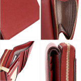 Yc-W002 rouge pu cuir Saffiano Coin Purse Lady Fashion court Wallet