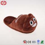 Poo Shape New Design Chaussure de chaussure en peluche Happy Face
