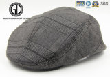 Herringbone Tweed Blend Snap Front Newsboy chapeau de haute qualité IVY Cap Gatsby