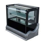 케이크 2개의 층은 빵집 냉장고 냉각장치 LED 빛을%s 가진 테이블 진열장을 디스플레이한다