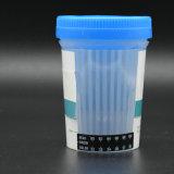 Una tazza dell'esame delle urine della Multi-Droga di punto con Ce & l'iso