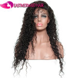 Peluca llena brasileña del cordón de las pelucas del pelo humano con la onda rizada de Remy del pelo del bebé