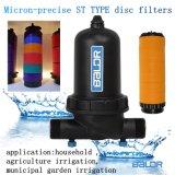 El riego por goteo de agua de filtro de disco de sistema de filtración de agua Pre Filtro de tratamiento de agua