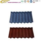 Tipo de chip resistente de acero recubierto de piedra fabricante de azulejos de techo