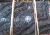 Pietra/copertura/pavimentazione/pavimentazione/mattonelle/lastre di marmo di legno nere/marmo della Cina