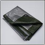 Vert de haute qualité et l'argent en PEHD bâche en plastique