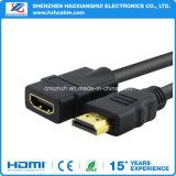 Extension haute qualité et haute vitesse du câble HDMI M / F, 6FT