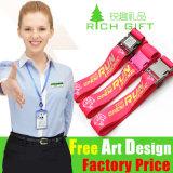 Lanière bon marché de collet de détenteur de carte de polyester de promotion d'OEM