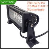 LED 바가 있는 객차 크리 사람 LED 표시등 막대 7 인치 36W EMC Emark Offroad 몰고 일
