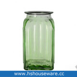 Цвет стекла ваза с джут трос ручки
