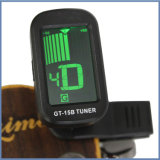 Clip sur le tuner normal sensible de guitare pour la batterie