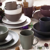 16PCS Round Matte Ceramic Dinner Set
