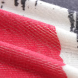 Plusgrößen-Strickjacke-Frauen gestrickte Drucken-Strickjacke-Pullover