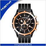 Relógio resistente suíço de venda clássico e quente de quartzo da água do couro genuíno do estilo