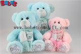 자수 곰 로고 스카프를 가진 분홍색 박제 동물 장난감 곰 장난감