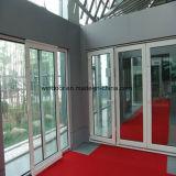 이중 유리를 끼우는 알루미늄 등록 문 접게된 문 디자인