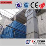 Type de chaîne ou type de courroie Ascenseur à godets verticaux pour chargement en spirale en vrac