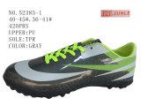 Четыре цвета PU футбол обувь два размера