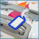 カスタムロゴの柔らかいPVC荷物の札袋の札