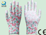 13 перчатки работы безопасности сада печати цветка датчика (PU006)