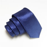Hombres de moda diseño de tela escocesa estrecha poliéster corbata (wh07)