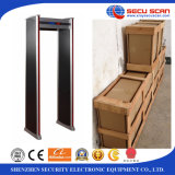 Uso interno porta de detector de metal de segurança de 18 zonas, scanner de corpo