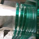 6mm bords plats en verre trempé clair