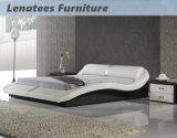 A070 de cuero de muebles de madera de cama diseños